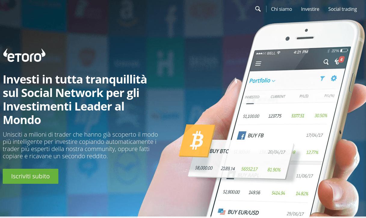 eToro criptovalute: copy funds e social trading