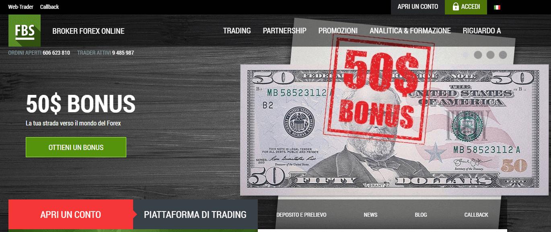 FBS broker con 50$ free e leva 1:3000