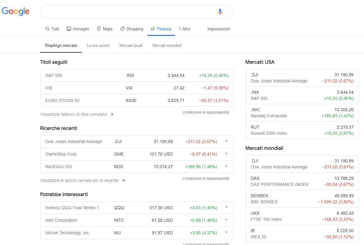 Google Finance vs Yahoo Finance