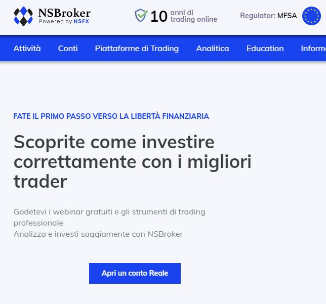 NSBroker trading online professionale
